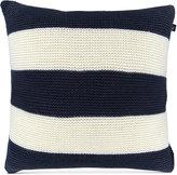 "Nautica Mainsail Reversible Knit Stripe 18"" Square Decorative Pillow"