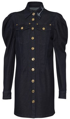 Versace Denim shirt dress with puffed sleeves