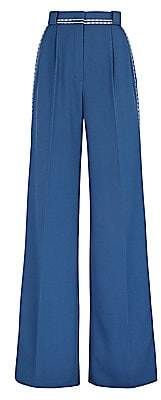 Fendi Women's Garbadine Twill High-Waist Pants