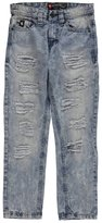 Southpole Big Boys' Washed Denim Long Pants with Ripped Details