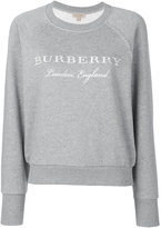 Burberry logo embroidered sweatshirt - women - Cotton/Polyester - XS