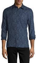 Nudie Jeans Henry Linen Printed Sportshirt