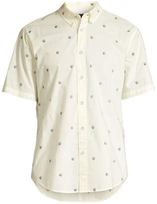 Rag & Bone Tomlin Print Short Sleeve Shirt