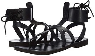 Free People Vacation Day Wrap Sandal (Black) Women's Shoes