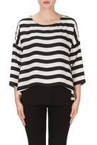 Joseph Ribkoff Black & White Stripe Tunic