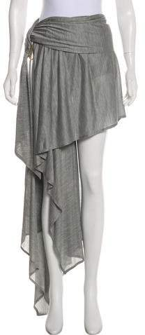 Anthony Vaccarello Asymmetrical Jersey Skirt