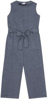 Thumbnail for your product : Il Gufo Cotton herringbone jumpsuit
