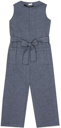 Il Gufo Cotton herringbone jumpsuit