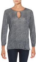 MICHAEL Michael Kors Printed Jersey Knit Long-Sleeve Top