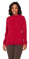 Denim & Co. As Is Chenille Mock Neck Sweater