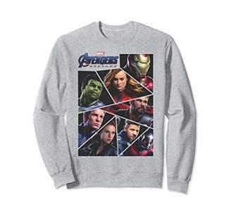 Marvel Avengers Endgame Broken Character Panels Sweatshirt