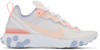 Nike Pink and Purple React Element 55 Sneakers