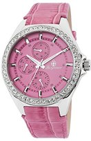 Burgmeister Women's Quartz Watch with Pink Dial Analogue Display and Pink Leather Bracelet BM529-168