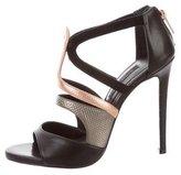 Ruthie Davis Kiernan Metallic-Accented Sandals