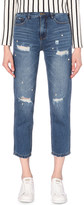 Mo&Co. Embellished boyfriend mid-rise jeans