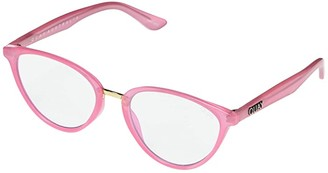 Quay Rumors (Pink/Clear Blue Light) Fashion Sunglasses