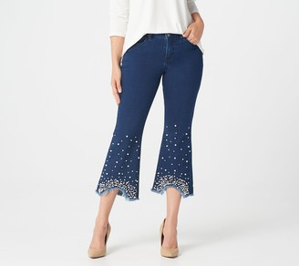 Women With Control Women with Control Petite My Wonder Denim Pearl Ankle Jeans