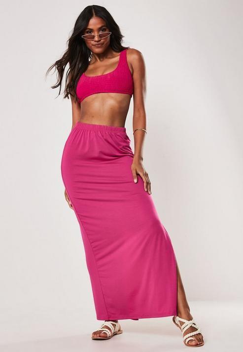 63fc42e2c406 Hot Pink Maxi Skirt - ShopStyle