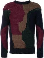 Frankie Morello intarsia knit jumper