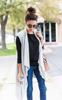 Ily Couture Grey Waterfall Vest