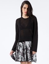Stolen Girlfriends Club Black Mean-Reno Crop Knit Top