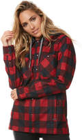 Volcom Circle Flannel Snow Jacket Red