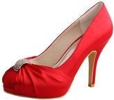 Wedopus MW643 Women's Pumps Round Toe High Heel Rhinestone Satin Wedding Party Bridal Shoes