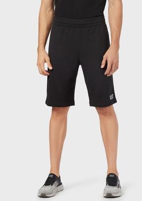 Ea7 Jersey Fleece Shorts With Logo