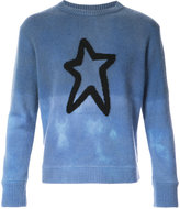 The Elder Statesman star knit tonal jumper