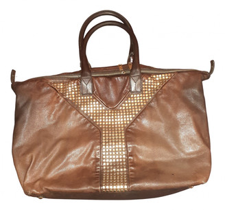 Saint Laurent Easy Brown Leather Handbags