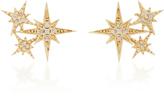 Sydney Evan Starburst 14K Gold And Diamond Stud Earrings