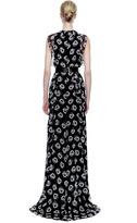 Prabal Gurung Floral-Print Silk-Chiffon Ruffle Gown