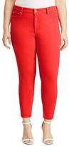 Lauren Ralph Lauren Plus Skinny Ankle Jeans in Fresh Tomato Wash