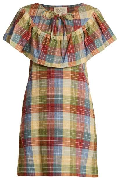 Ace&Jig Clifton Checked Cotton Blend Dress - Womens - Multi