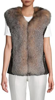 Wolfie Fur Sheared Beaver Fox Fur Vest
