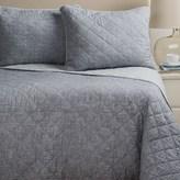 Artisan de Luxe Diamond Slub-Cotton Quilt Set - Full-Queen