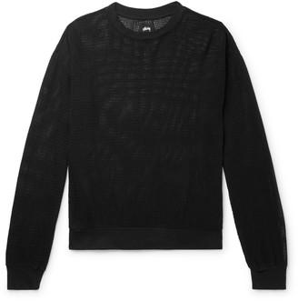 Stussy Pigment-Dyed Cotton-Mesh Sweatshirt