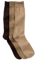 Nordstrom King Size Dress Socks - Pack of 3
