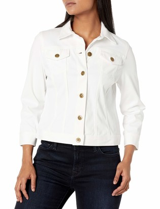 Ruby Rd. Women's Petite Button-Front Stretch Knitted Twill Jacket