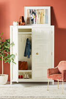 Anthropologie Lacquered Regency Armoire