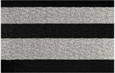 Chilewich Large Stripe Shag Rug - Black/White - 46x71cm