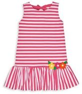Florence Eiseman Toddler's & Little Girl's Mixed Striped Applique Dress