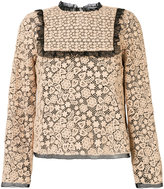RED Valentino lace embroidered blouse