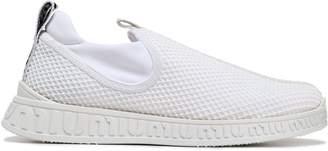 Miu Miu Appliqued Satin-trimmed Mesh Sneakers