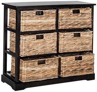 One Kings Lane Kera 6-Basket Storage Unit - Black