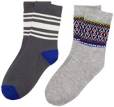 Crazy 8 Fair Isle Stripe Socks 2-Pack