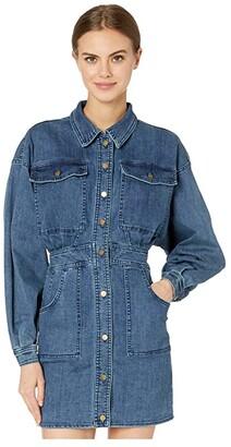 Free People Bo Dress (Indigo Blue) Women's Clothing