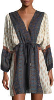 Gypsy 05 V-Neck Mini Peasant Dress