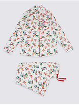 Marks and Spencer Pure Cotton Robin Pyjamas (1-16 Years)