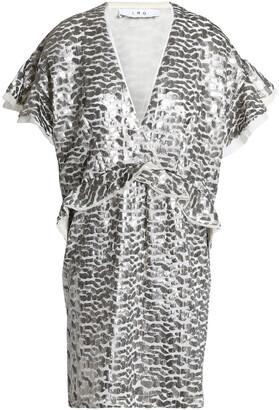 IRO Sequined Georgette Mini Dress